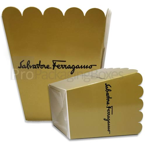 Custom Printed Popcorn Boxes for Salvatore Ferragamo