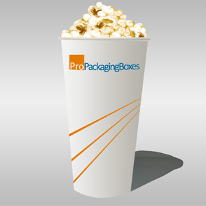 Custom Printed Popcorn Cups in polypaper Stock - Image