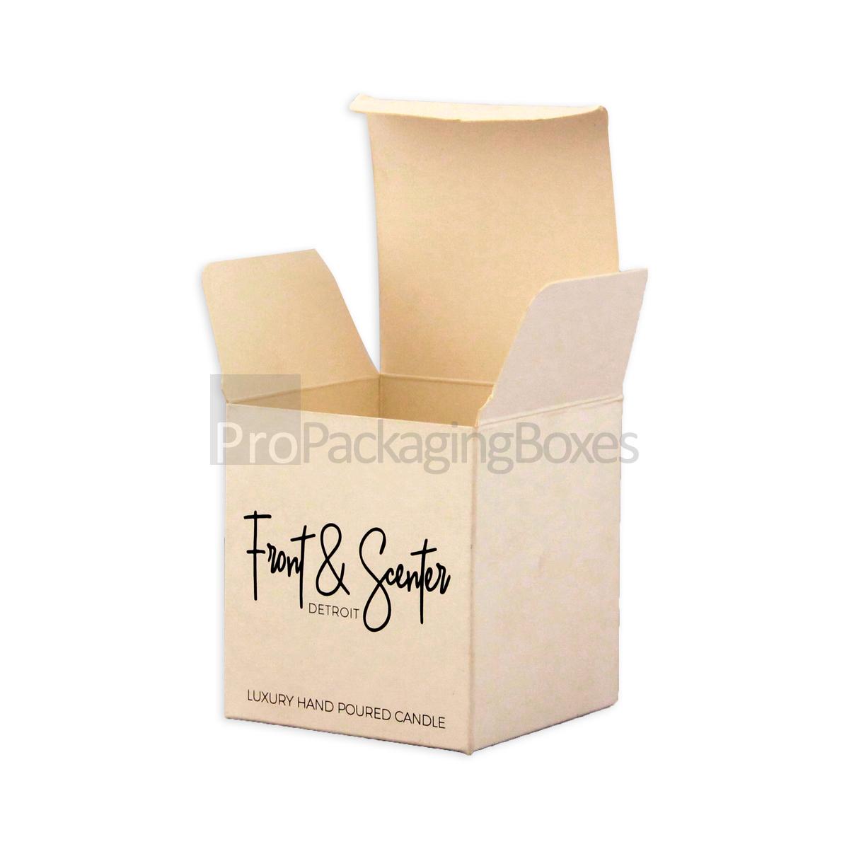 Custom Printed Candle Packaging cardboard Boxes