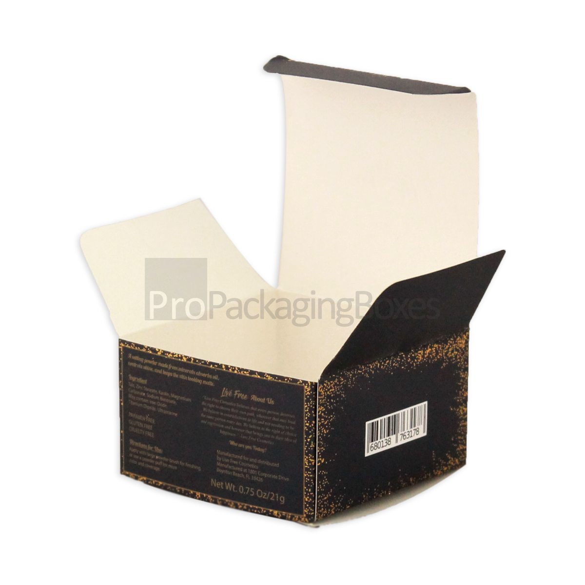 customp printed paper box with tuck top