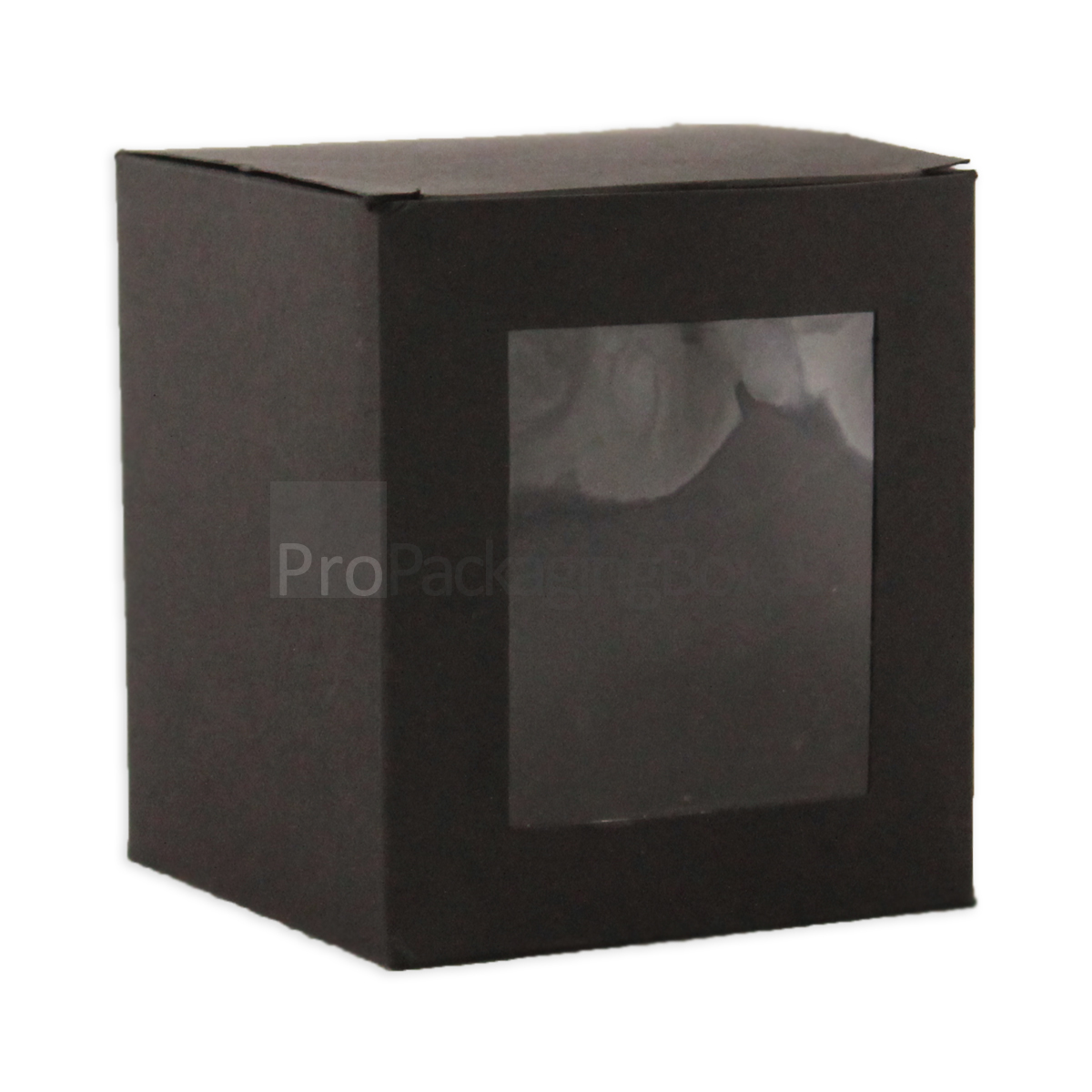 Custom Printed Candle Packaging matte black Boxes