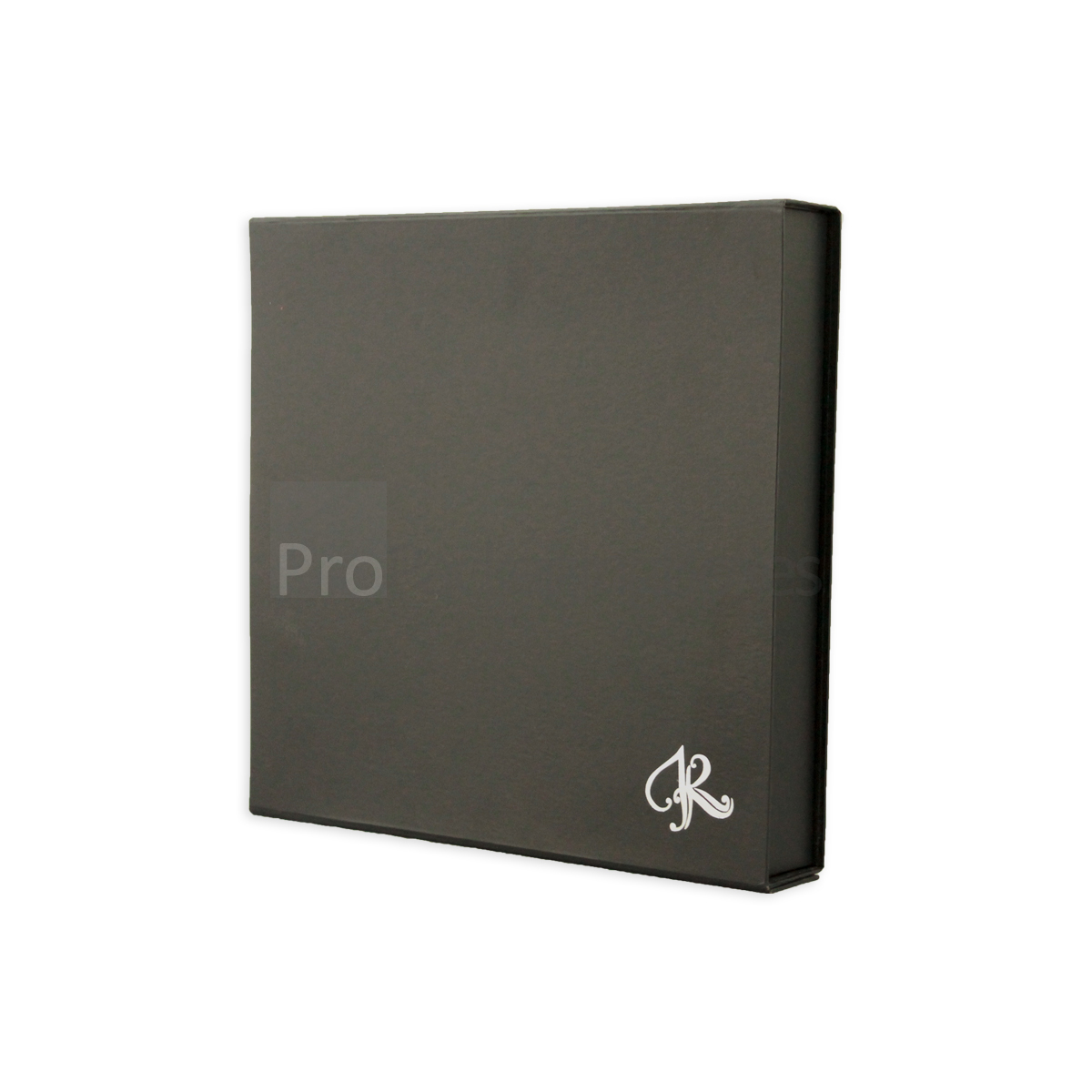 luxury folder box with silver foiling