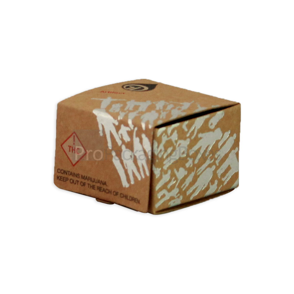 Custom Kraft Paper Box with Silver Foiling