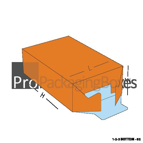 123 Bottom Custom Packaging Boxes-Bottom View
