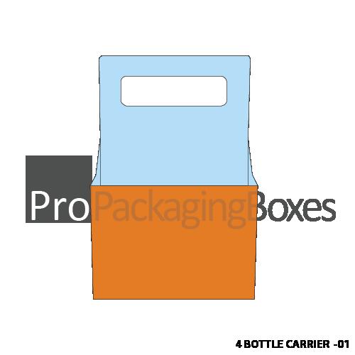 Custom Printed 4 Bottle Carrier Boxes