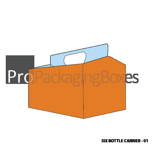 Custom 6 Pack Bottle Carrier Boxes