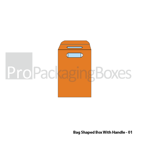 Bag Shaped Boxes with Handle Front View