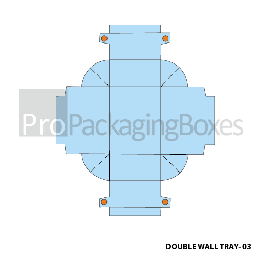 Custom Printed Double Wall Trays Template View