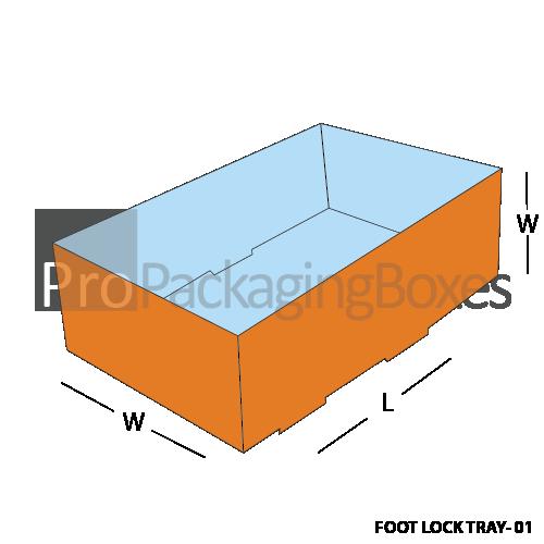 Custom Printed Foot Lock Packaging Trays Front View