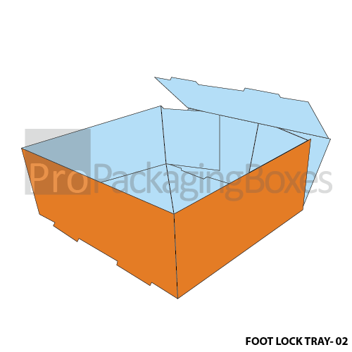 Custom Printed Foot Lock Packaging Trays Side View