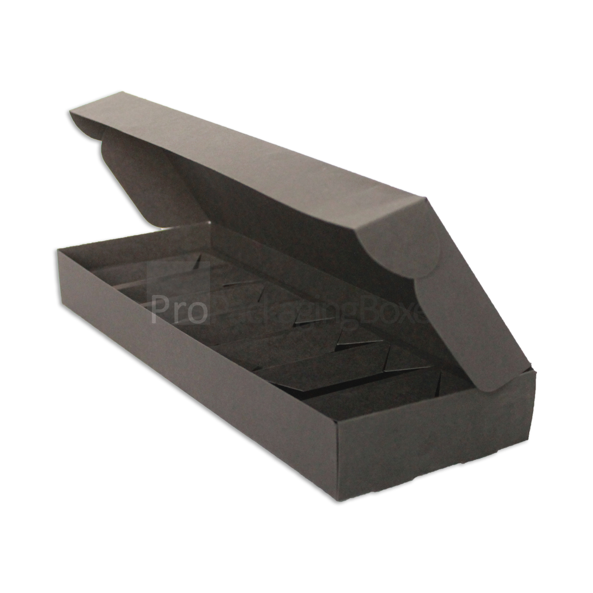 custom printed folding boxes-black-matte-card