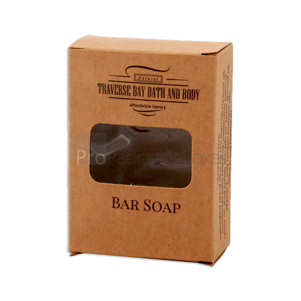 Custom Printed Soap Packaging Boxes in kraft card stock