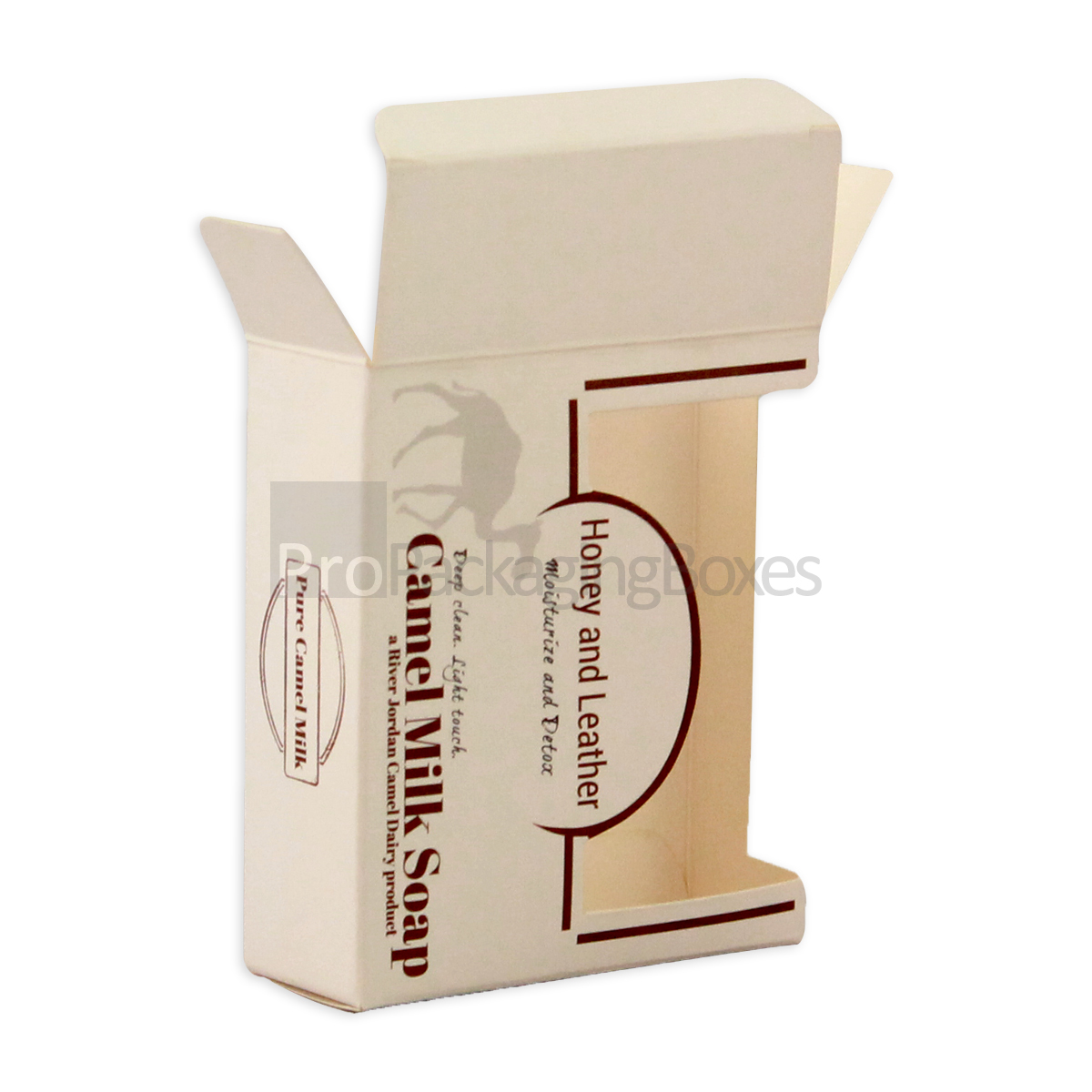Custom Printed Soap Packaging Boxes in cardboard stock
