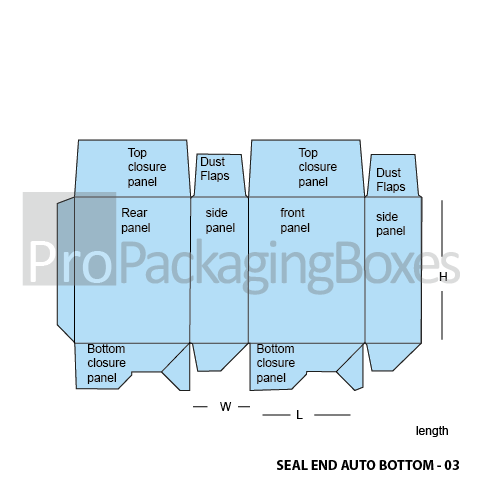 Custom Seal End Auto Bottom Boxes Template