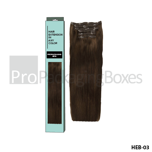 Custom Printed Hair Extension Packaging