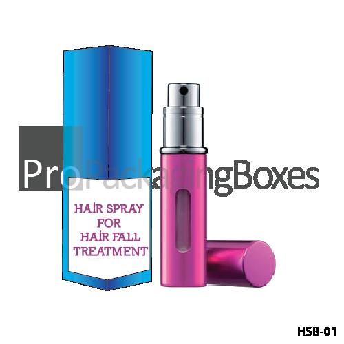Custom Printed Hair Spray packaging Boxes Suppliers
