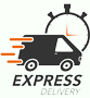 Express Delivery Homepage Banner badge