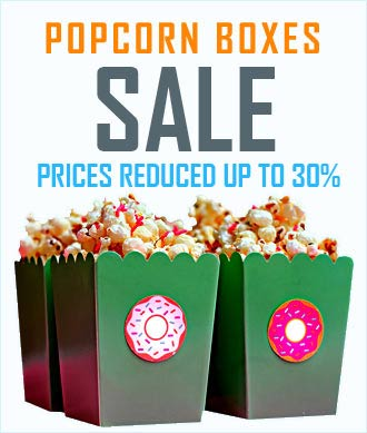 30% Prices Reduced on Bespoke Popcorn Packaging Boxes banner Image