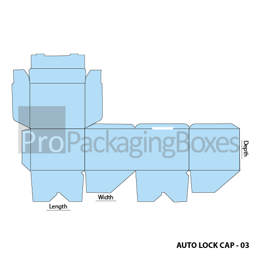 Auto Lock Boxes with Top Cap- Template