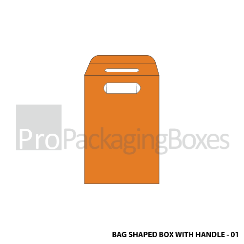 Bag Shaped Box with Auto Lock Bottom - Front View