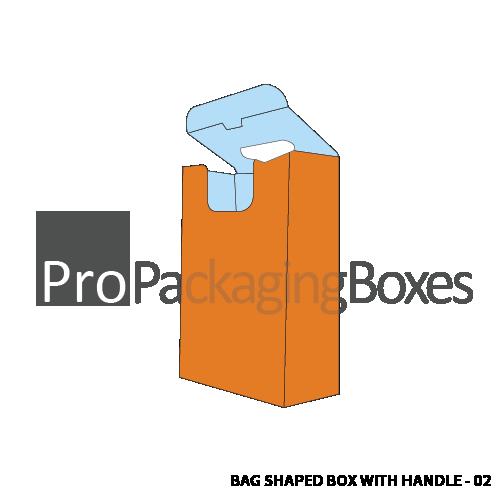 Custom Bag Shaped Box with Auto Lock Bottom - Side View