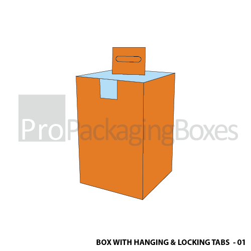 Custom Printed Box with Hanging & Locking Tabs