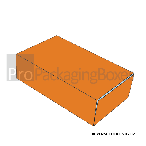 Custom Reverse Tuck End Packaging and Printing - Closed Box View