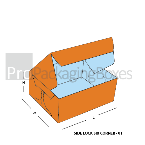 Custom Side Lock Six Corner Boxes Suppliers