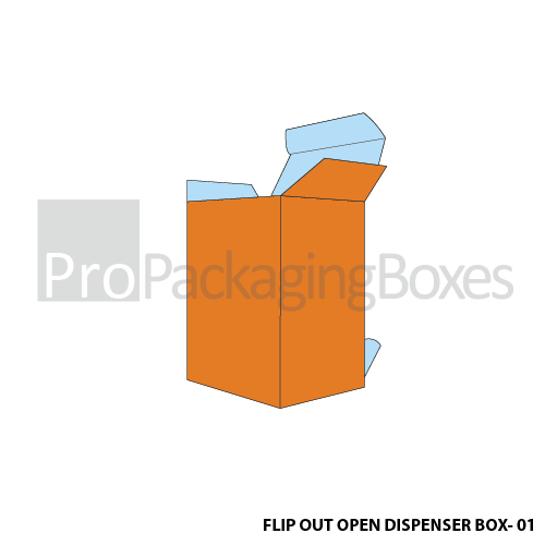 Personalized Flipout Open Dispenser Boxes - Front View