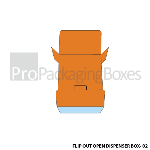 Customized Flipout Open Dispenser Boxes - Bottom View