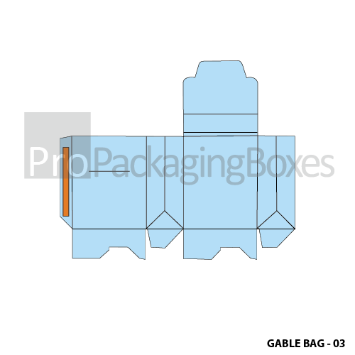 Personalized Gable Bags packaging template