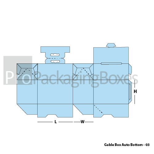 Personalized Gable Boxes with Auto Bottom - Template View