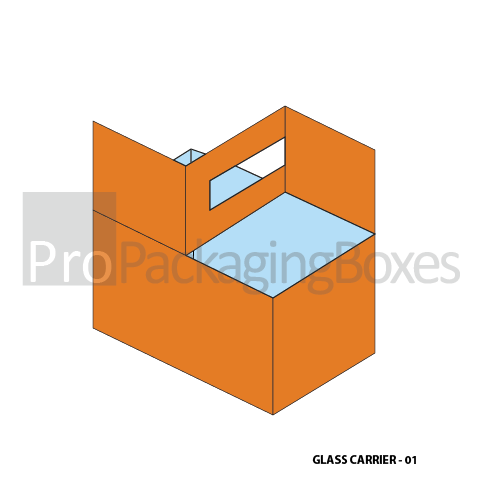 Custom Printed Glass Carrier Packaging Supplpiers