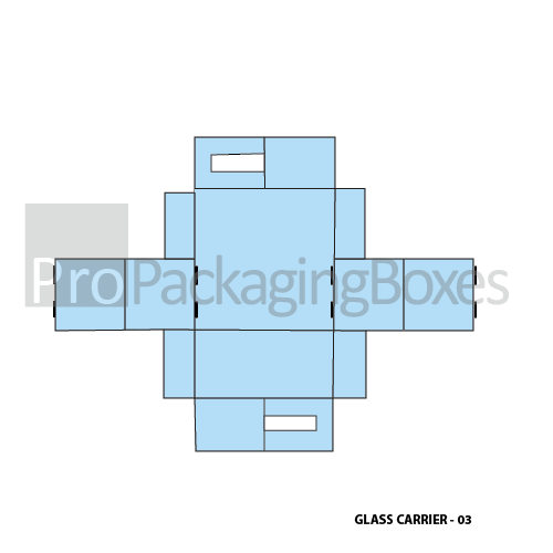 Custom Printed Glass Carrier Packaging Template