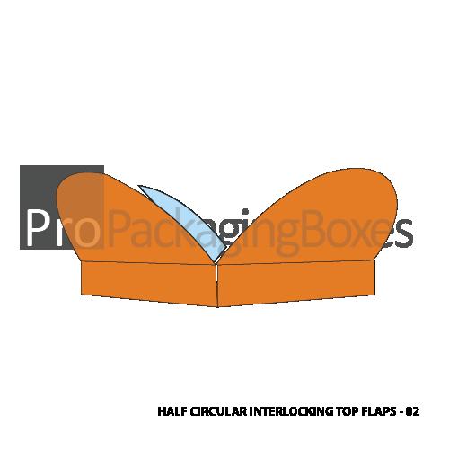 Customized Half Circular Interlocking Boxes - Open View