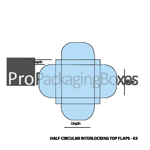 Custom Half Circular Interlocking Boxes - template View