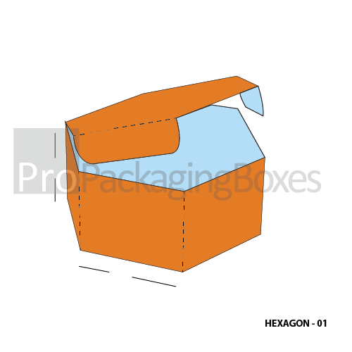 Personalized Hexagon Packaging Boxes - Top View