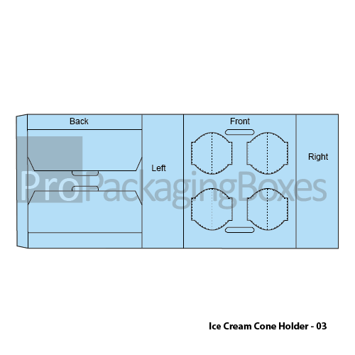 Custom made ice Cream Cone Holders Packaging Template