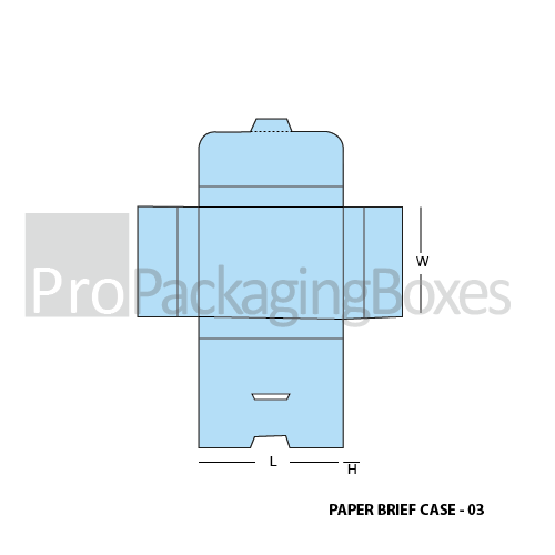 Personalized Paper Briefcase Boxes Template View