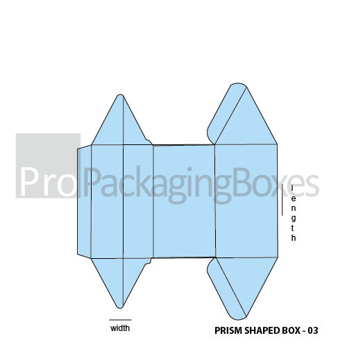 Custom Prism Shaped Boxes Template View