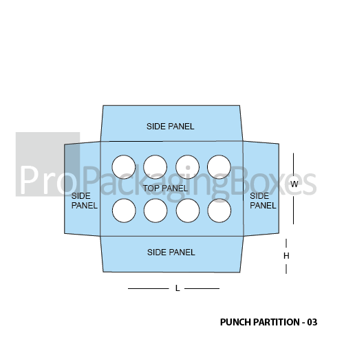 Custom Punch Partition Packaging Templates