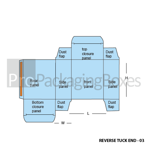 Reverse Tuck End Boxes Design Template