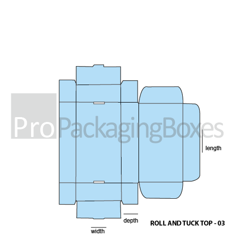 Personalized Roll End Tuck Top Boxes - Template View