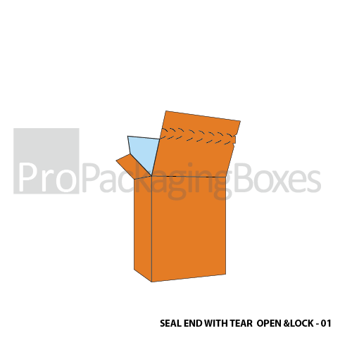 Seal End Boxes with Tear Open and Lock System