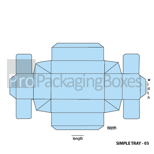 Promotional Printed Simplex Trays - Template View