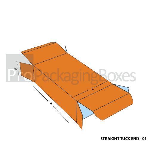 Custom Printed Straight Tuck End Boxes - Open View