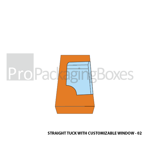 Custom Printed Straight Tuck Boxes with Customizable Window - Side View
