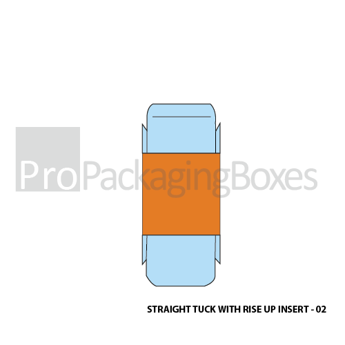 Personalized Straight Tuck Boxes with Rise up Inserts