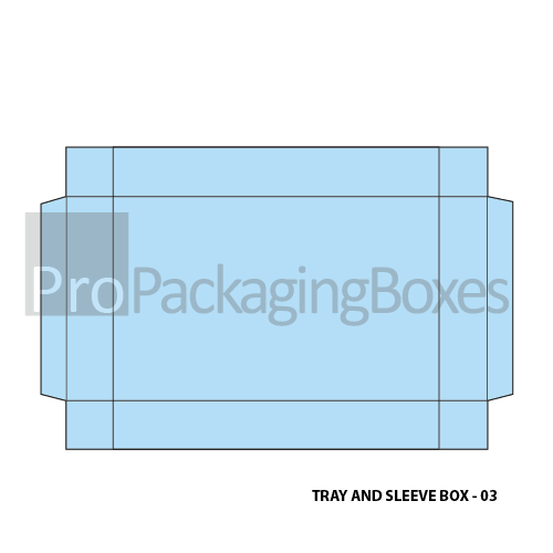 Custom Tray and Sleeve Boxes - Template View