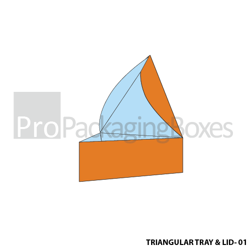 Personalized Triangular Tray with Lid Boxes - Front View